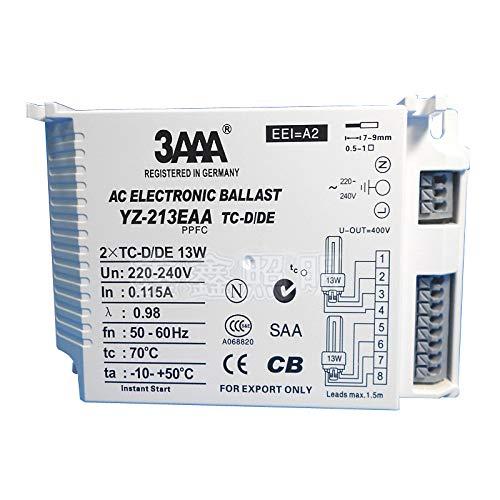 3AAA YZ-113EAA YZ-213EAA TC-D/DE 13 W 13W x 2 AC PPFC Elektronisches Vorschaltgeräte für 1 Lampe und 2 Lampen Beleuchtungskomponenten (YZ-213EAA TC-D/DE)