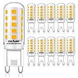 Eco.Luma G9 LED Lampen Warmweiß 3000K, 5W ersatz für Halogenlampe G9 40W 33W, AC 230V G9 Mini Glühlampe, Kein Flackern 420LM, Nicht Dimmbar 10er Pack