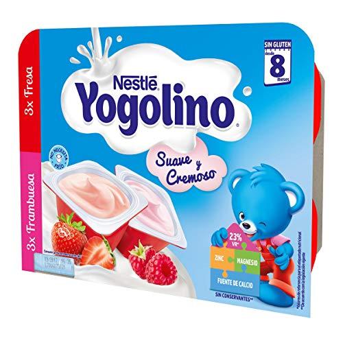 Nestlé Yogolino Postre lácteo Suave y Cremoso, 24 tarrinas de Fresa y...