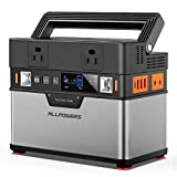 ALLPOWERS Portable Power Station 300W, 372Wh Portable Power Source, 110V/100500mAh Backup Battery Power Supply with Pure Sine Wave, Solar Generator for Outdoors Camping Travel RV Emergency