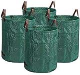 XDKS Pack de 4 bolsas de basura de jardín, bolsas de residuos...