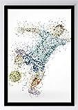 Abstrakt Sport Fußball Kunstdruck Poster -ungerahmt- Bild