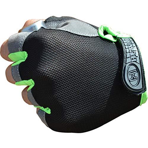 Guantes de ciclismo, guantes de ciclismo, guantes de bicicleta, guantes de ciclismo, antideslizantes, transpirables, mitones, guantes cortos deportivos, accesorios para hombres y mujeres