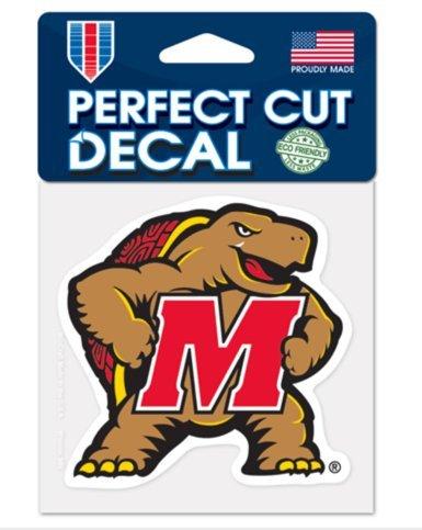 "WinCraft NCAA Maryland Terrapins Color 4""x4"" inch Vinyl Die-Cut Decal"
