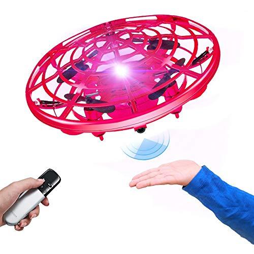 Logo Hover-Spielzeug Mini elektrische Fernbedienung Flugzeug UFO Induktion Drone Kinderspielzeug Jungen-Mädchen-Geburtstags-Geschenk Intelligent Suspension Feste Höhe Ansaugsteuersystem Fernbedienung