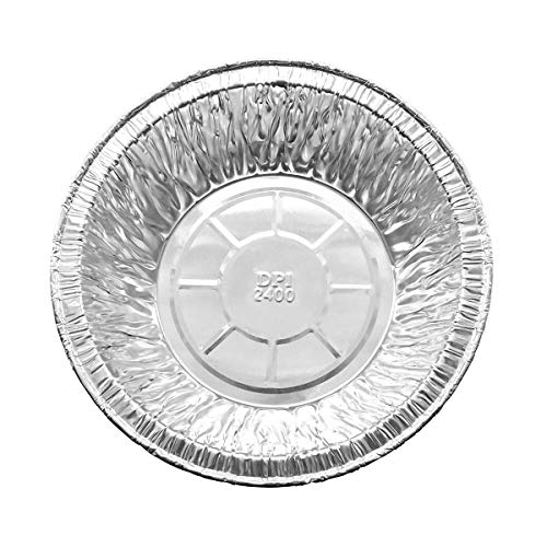 KitchenDance Disposable Aluminum 5 3/4 Extra Deep Meat/Pot Pie Pan #2400 by Durable Packaging (50)