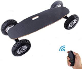 Off-Road Electric Skateboard, Outdoor Extreme Sport Cruiser Mountainboards with Remote Controller, 25 MPH Top Speed, 9.3 Miles Max Range, 1800W Motor, Double Drive Four Wheel Longboard