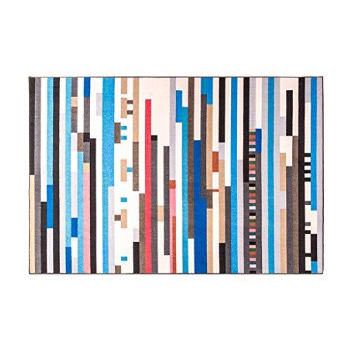 KTYXGKL Alfombra rectangular de rayas geométricas para sala de estar, sofá, mesa de café, dormitorio, mesita de noche, alfombra de área de colores (tamaño: 120 x 170 cm)