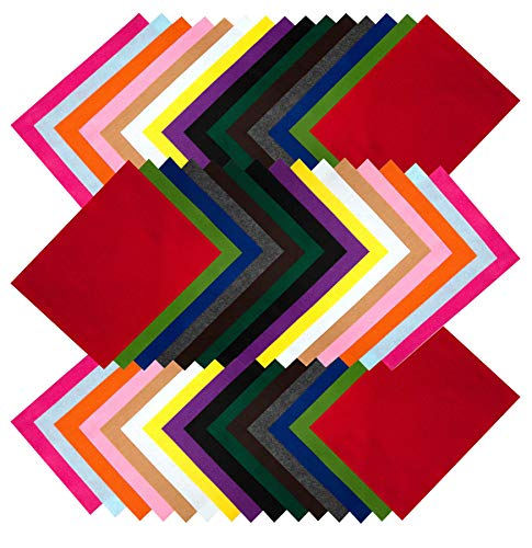 Edukit A4 Acrylic Felt Fabric Sheets; 60 per Pack; 15 Assorted Colours - Deluxe Box for Easy Storage; Great for Crafting and Sewing