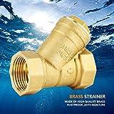 Conector de válvula de filtro Conector de latón Roscas de precisión de 1/2 pulgada Alta dureza para sistema de tubería para tubería de agua