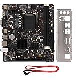 Placa base DDR3, placa base H81 LAG1150 PC CPU con 4 * SATA 2.0 y ranura para tarjeta gráfica PCI-E x16 Compatible con salida dual VGA + HDMI Compatible con memoria de escritorio DDR3 1066/1333/1600