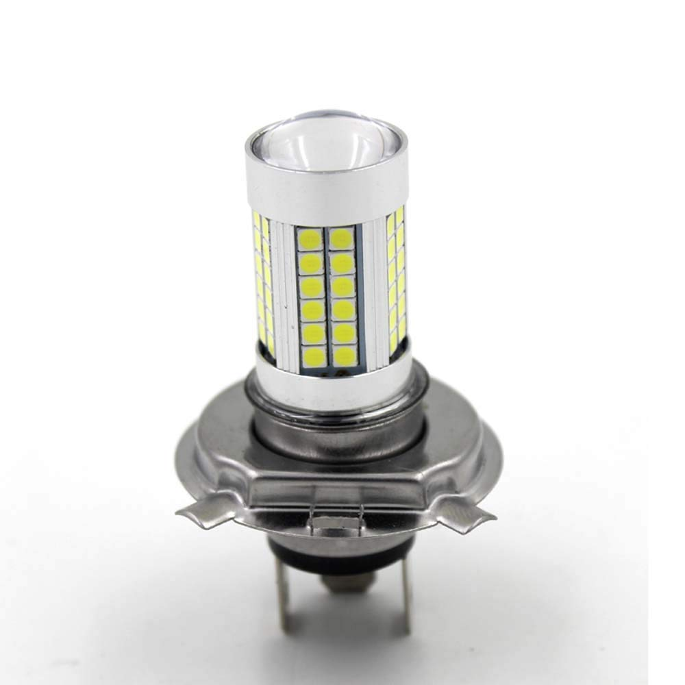 6V Motor H4 30 SMD LED Motorcycle Headlight Bulb Head lamp DC 6500K White High//Low Conversion Kit