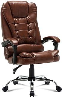 AOLI Silla de oficina - silla giratoria de alta Ejecutivo con altura ajustable cabeza 3D del resto del brazo soporte lumbar y respaldo tapizado para el hogar sillas de escritorio,A