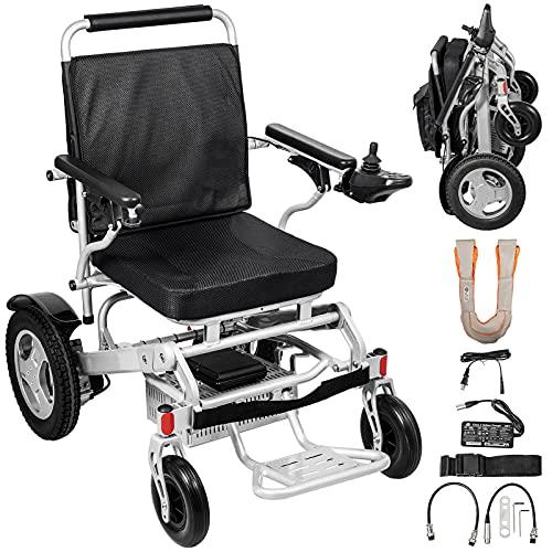 VEVOR 58 x 32,5 x 78 cm, Elektro Rollstuhl Treppensteiger, Elektrisch Faltbar Rollstuhl, Silbrig, leicht zusammenklappen, Elektrorollstuhl faltbar leicht gebraucht, Rollstuhl elektrischer antrieb.