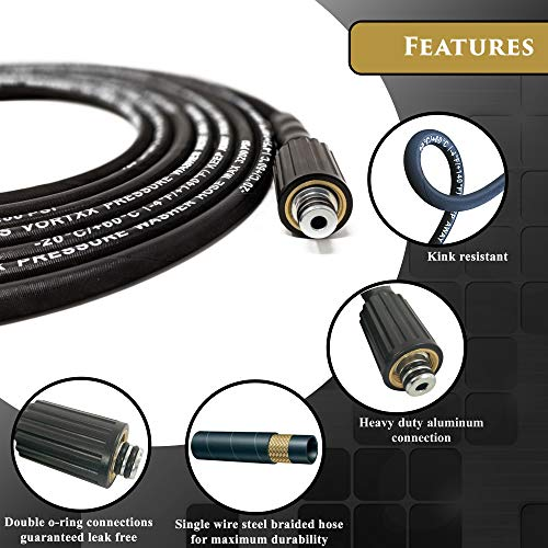 Heavy Duty 30ft Universal Pressure Washer Hose 1/4
