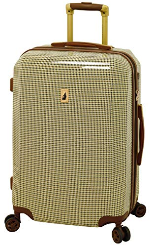 London Fog Cambridge 24' Expandable Hardside Spinner, Olive Plaid