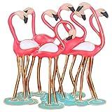 Holibanna Flamingo Brosche Tier Brosche Pin Schmuck Cartoon Brustnadel Brosche Kragen Schmuck Geschenk für Hawaii Dschungel Party Lady Girl Frauen