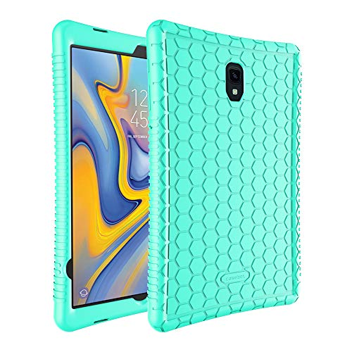FINTIE Custodia per Samsung Galaxy Tab A 10.5 2018 Modello SM-T590/T595 - [Serie Honey Comb] Ultra Leggera Cover Antiurto Protettiva Case in Silicone, Menta Verde