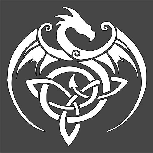 Rubstamper Celtic Dragon Logo Stencil Reusable Sturdy Flexible Clear Plastic 1-5.5x5.5 in Arts and Crafts Material Scrapbooking for Airbrush Painting Drawing
