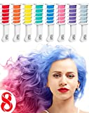 Hair Chalk Comb Temporary Hair Dye Hair Color Brush Glitter Paint for...