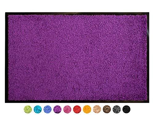 Schmutzfangmatte CLEAN – Lila Violett 120x180 cm, Waschbare, Rutschfeste, Pflegeleichte Fußmatte, Eingangsmatte, Küchenläufer Sauberlauf-Matte, Türvorleger für Innen & Außen