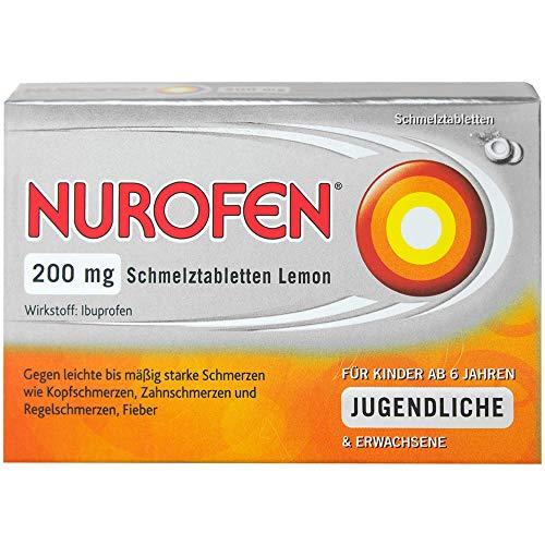 NUROFEN 200 mg Schmelztabletten Lemon bei Schmerzen und Fieber, 24 St. Tabletten