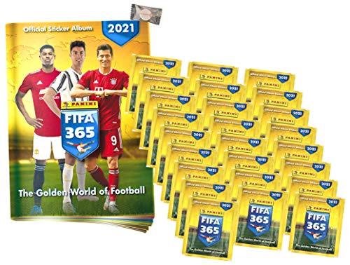 ★ F.IFA 365 Sticker Edition 2021 - Sammelsticker - 1 Album + 25 Tüten + stickermarkt24de Gum