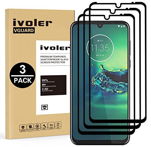 VGUARD 3 Stücke Panzerglas Schutzfolie für Motorola Moto G8 Plus, [Volle Bedeckung] Panzerglasfolie Folie Hartglas Gehärtetem Glas BildschirmPanzerglas für Motorola Moto G8 Plus