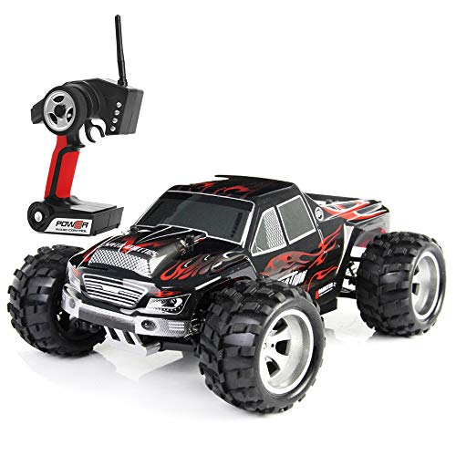 Wltoys A979 1:18 Scale 4WD Monster Truck Rc Car High Speed 50km/h 4WD 2.4Ghz Remote Control Truck Radio Controlled Off-Road RC Car Electronic Monster Truck R/C Hobby Grade Cross-Country Car
