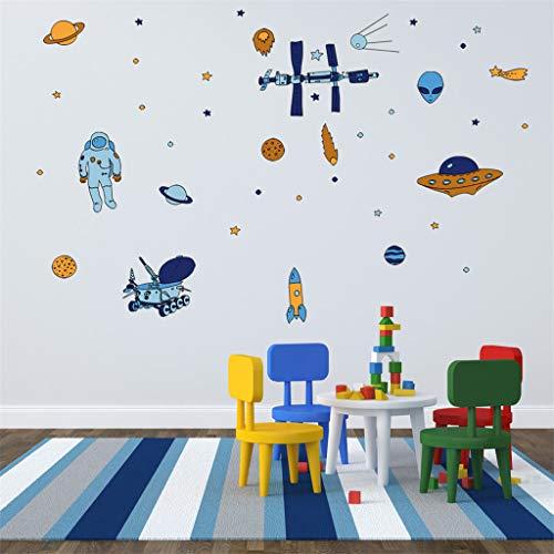 Stickers Muraux Décoration de Chambre d'enfant Sticker Mural de Bricolage Motif Planète Sticker Muraux Amovibles Décoration Murale de Fond Autocollants Muraux Papiers Peints Chic Wall Sticker WINJIN