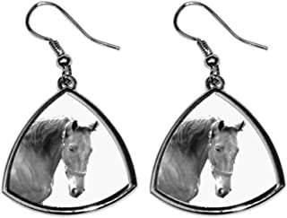 American Saddlebred, collection of earrings with images of purebred horse, unique gift