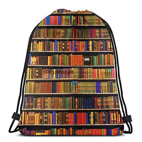 Almost-Okay-Shop Bücherregal Collage Kordelzug Tasche Sport Fitn Tasche Reisetasche Geschenktüte