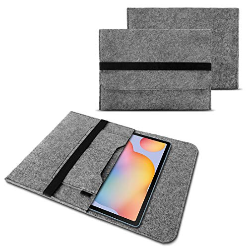 NAUC Tasche Grau kompatibel für Samsung Galaxy Tab A7 10,4 Zoll Sleeve Hülle Tablet Filz Cover Schutzhülle Hülle, Farbe:Grau