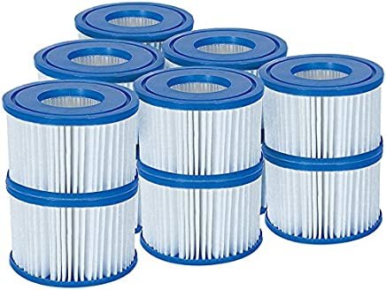 Bestway Filter Cartridge VI for Miami, Vegas, Monaco Lay-Z-Spa 58323 - (compatible with Old 58239), 6x2 set