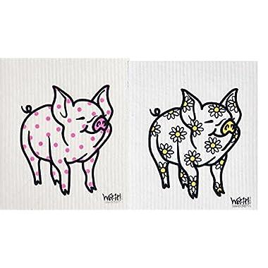 Wet-It Swedish Dishcloth Set of 2 (Pigs)