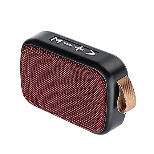 Bdesign Mini Altavoz Bluetooth, IPX7 Altavoz de Ducha Impermeable, Altavoz portátil inalámbrico, Tiempo de Juego 10h, HD Sound for Pool Beach Bike Travel (Color : Red)