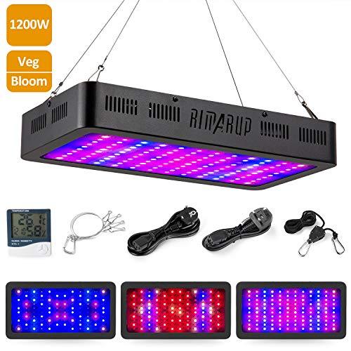 RIMARUP - Lampada da coltivazione a LED, 1200 W, luce a doppio spettro, luce per coltivare piante,...