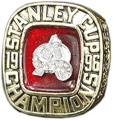Feeyond 1996 Colorado Avalanche Team Hockey League Ring Hockey sobre Hielo Stanley Cup Champion Ring Replica 11 Tamaño Anillo Creativo Hombres Y Mujeres,Without Box 11