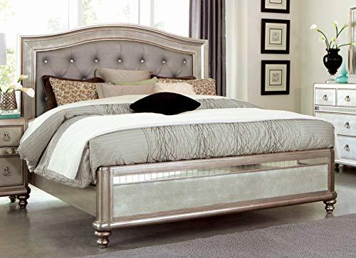 Coaster Home Furnishings Upholstered Bed, Metallic Platinum