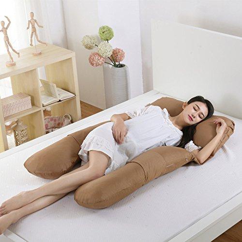 Cuscino In Gravidanza Cotone A Forma Di U Maternità Cuscino Multifunzionale Ventosa Vita Lato Lato Sonno Cuscino Allattamento,J-155 * 85 * 20cm
