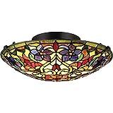 Quoizel TFVT1617VB Violets Flush Mount Ceiling Lighting, 2-Light, 150 Watts, Vintage Bronze (6' H x 16' W)