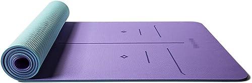 LPFMM Tapis de Yoga TPE élargi Long Tapis de Fitness épaissi 183cm × 66cm Tapis de Yoga (Couleur   A, Taille   183cm×66cm×8mm)