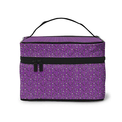 Divertida bolsa de maquillaje multifuncional de viaje con diseño de gato de yoga.