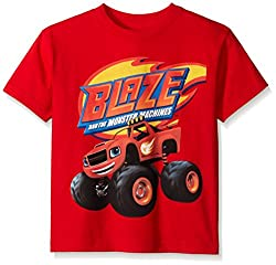 Blaze and the Monster Machines Little Boys' Short Sleeve T-Shirt Shirt, Red, Medium-5/6