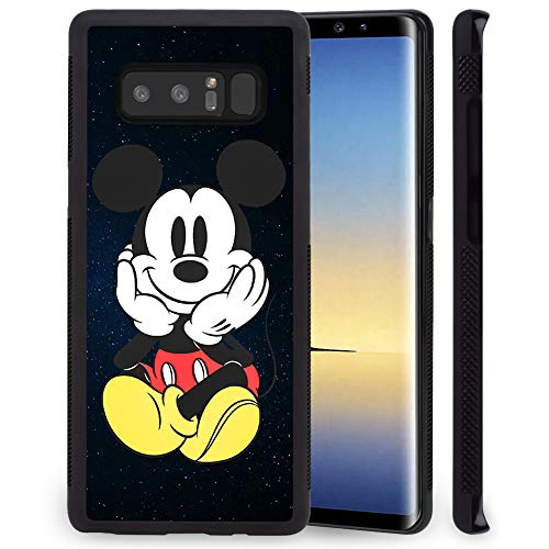 DISNEY COLLECTION Tire Phone Case Compatible with Samsung Galaxy Note 8 (6.3 inch) Smile Mickey Skid Shock Proof Protective Note 8 Cover