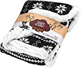 Ultra Soft Sherpa Fleece Plaid Baby Blanket | Cozy, Plush Throw Blanket for Kids | Reversible Plaid | Washable | Wide Size for Extra for Warmth & Comfort | Cute