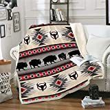 Southwest Native American Throw Blanket, Indian Tribal Aztec Ultra Soft Blanket Geometry Pattern Travel Couch Bed Plush Blanket (59'x79'(150x200cm))