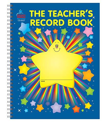 Carson Dellosa Teacher Record Book—38 Student Class Record Book for Organizing Grades, Attendance, Progress Reports, and Behavioral Log for School (8.6