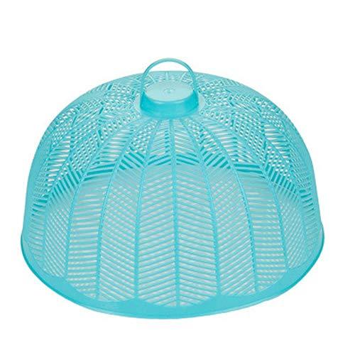 Milieuvriendelijk Plastic Voedsel Cover Tent Paraplu Herbruikbare Outdoor Picnic Voedselhoezen Mesh Voedsel Cover Net Keep Out Vliegen Bugs Muggen Blauw