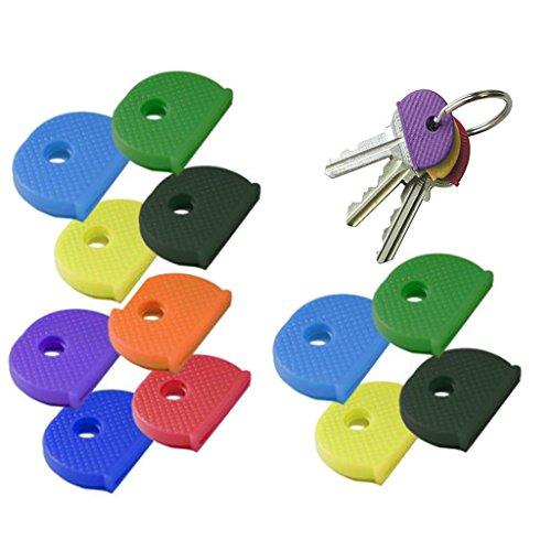 perfk 24pcs Cap Clé Multicolore Couvre-Clés pour Protection Clés de Porte 2.5 x 1.9 cm